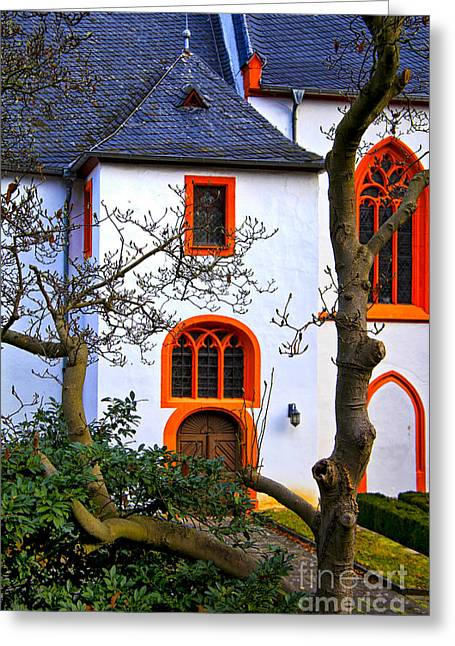 Church On Rhine Two Greeting Card
