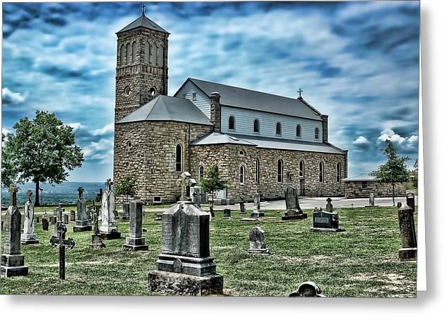 Greeting Card featuring the photograph Church On The Hill by Renee Hardison