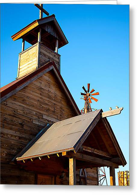 Church On The Mount - Goldfield Ghost Town Greeting Card by Jephyr Art
