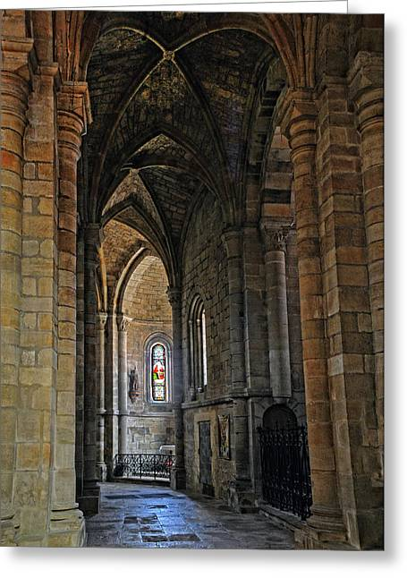 Greeting Card featuring the photograph Church Passageway Provence France by Dave Mills