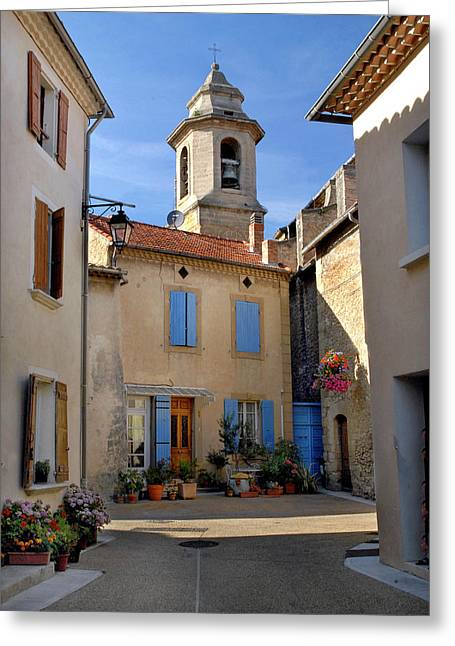 Greeting Card featuring the photograph Church Steeple In Provence by Dave Mills