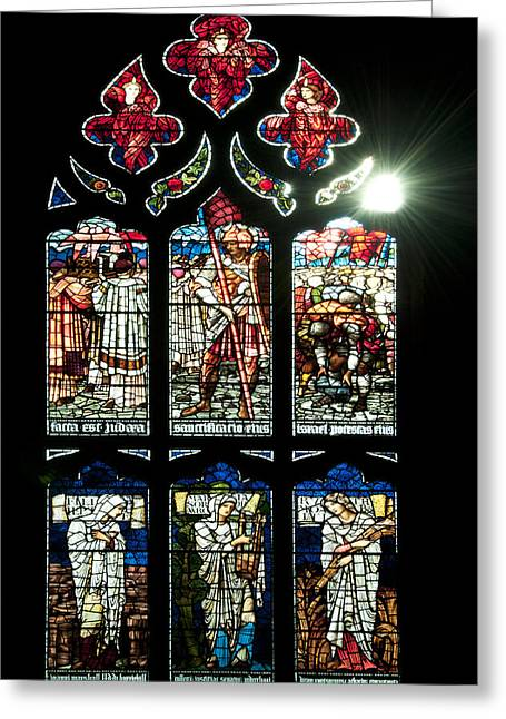Church Window I Greeting Card by Svetlana Sewell