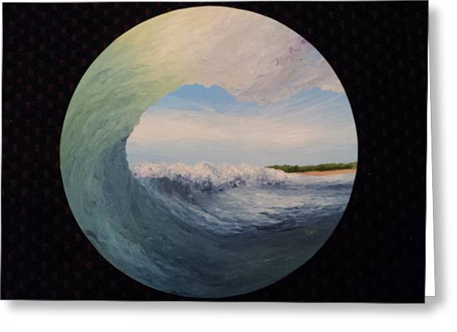 Cicle Wave Greeting Card by Osee Koger