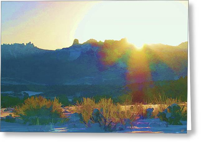 Cimarron Sunrise Greeting Card