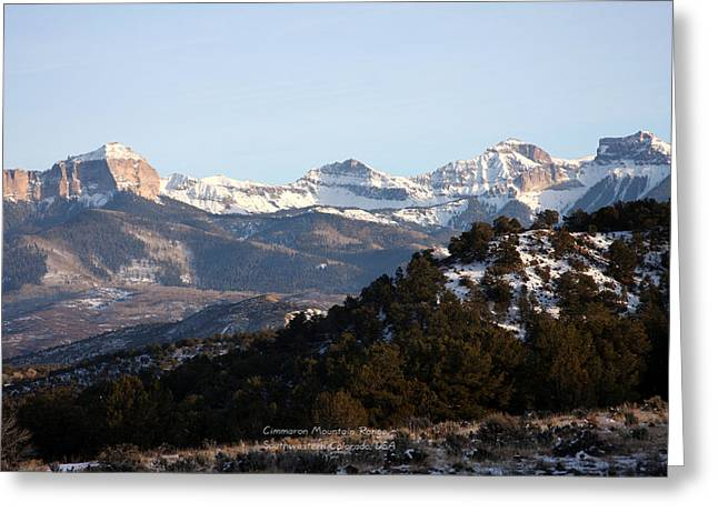Greeting Card featuring the photograph Cimmaron Range by Marta Alfred