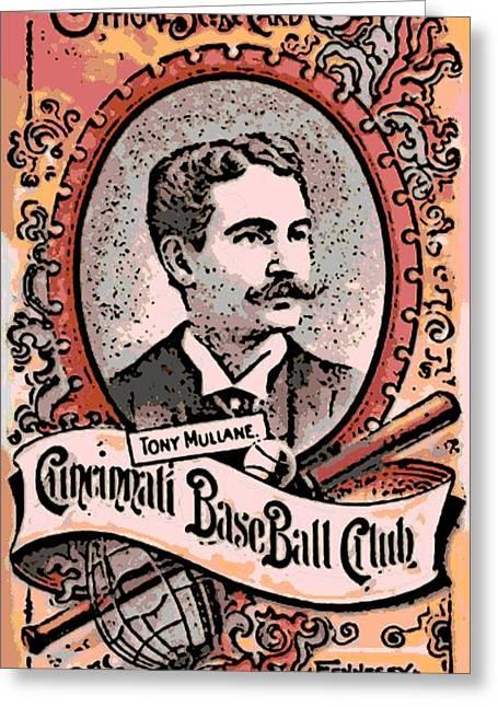 Cincinnati Baseball Greeting Card by George Pedro