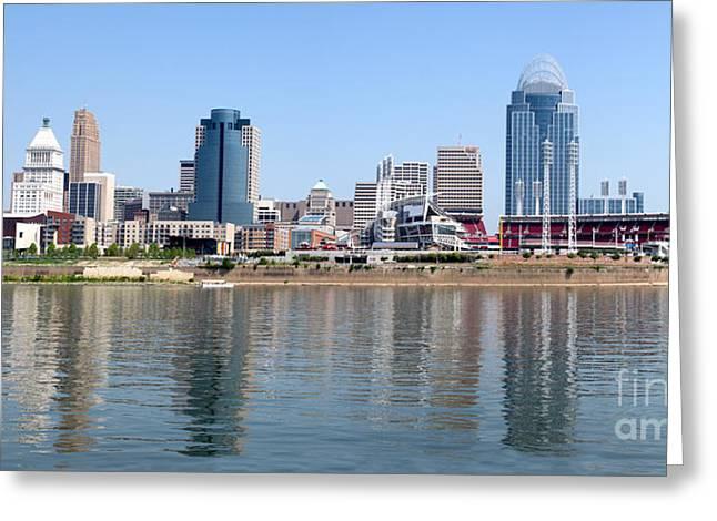 Cincinnati Panoramic Skyline Greeting Card