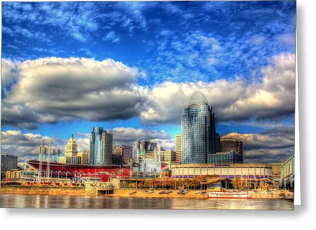 Cincinnati Skyline 2012 - 2 Greeting Card