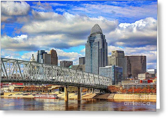 Cincinnati Skyline 2012 Greeting Card