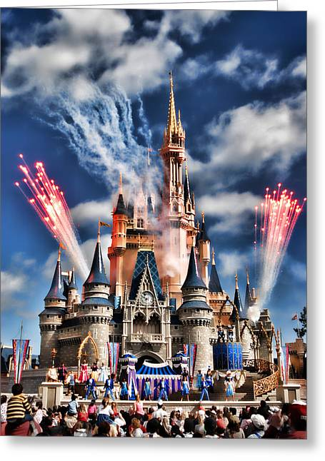 Cinderella's Castle Greeting Card by Brent Craft