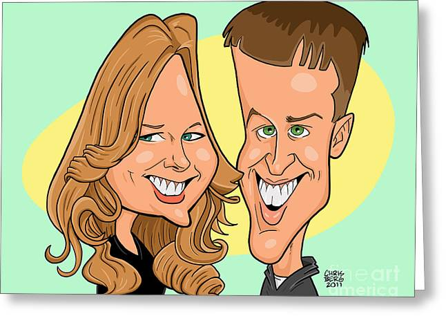 Cindy And Jordan Greeting Card by Chris Berg
