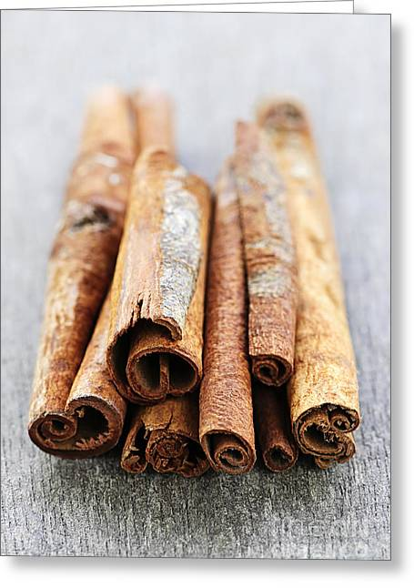 Cinnamon Sticks Greeting Card by Elena Elisseeva