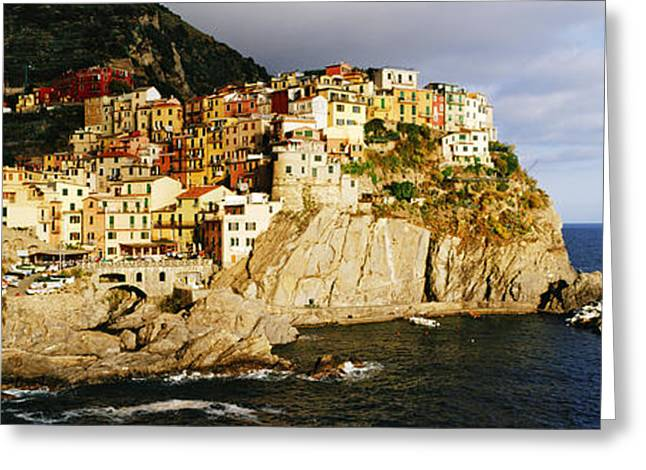 Cinque Terra Town Of Manarola Greeting Card by Jeremy Woodhouse