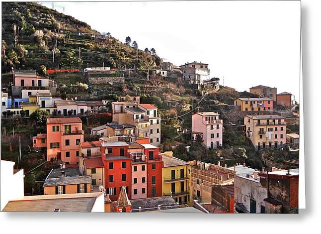 Cinque Terre I Greeting Card by David Ritsema