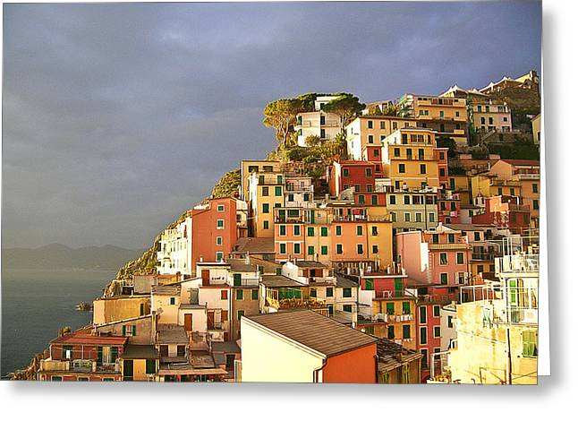 Cinque Terre Italy Fine Art Print Greeting Card by Ian Stevenson