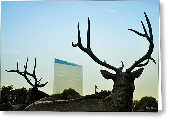 Cira Center From Eakins Oval Greeting Card by Bill Cannon