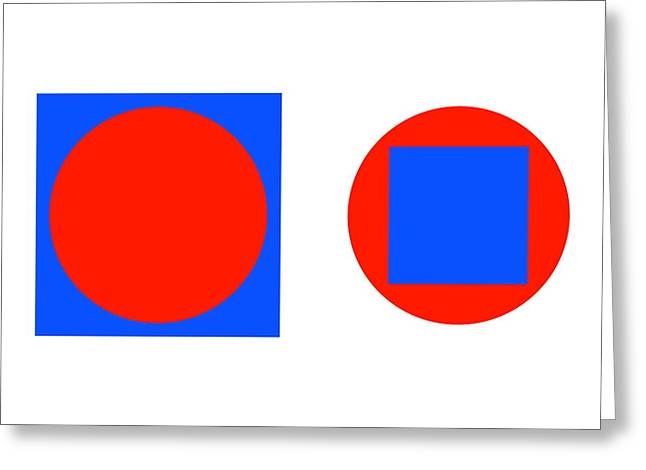 Circle In A Square Illusion Greeting Card by