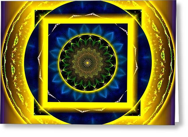 Circle Of Power Greeting Card by Rotaunja
