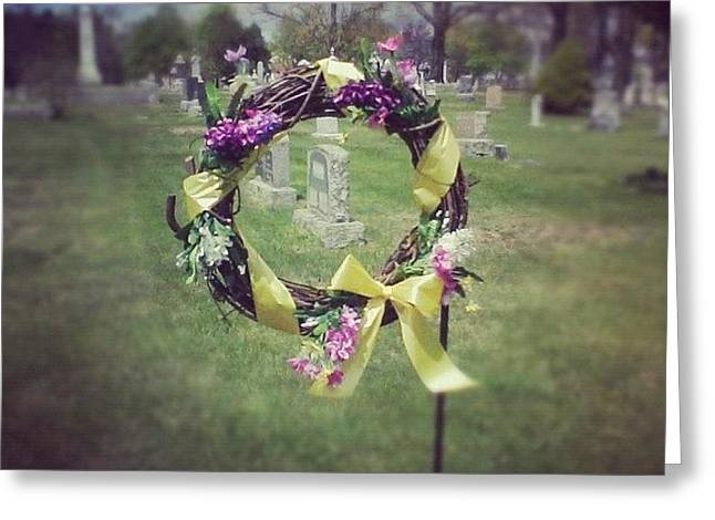 #circle #ribbon #flower #flowers #reef Greeting Card