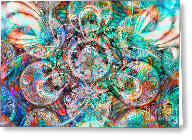 Circles Of Life Greeting Card by Mo T