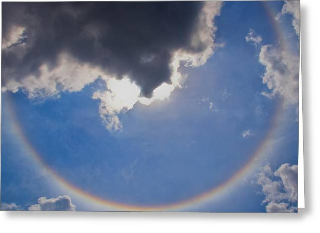 Circular Rainbow - Square Cropped Greeting Card