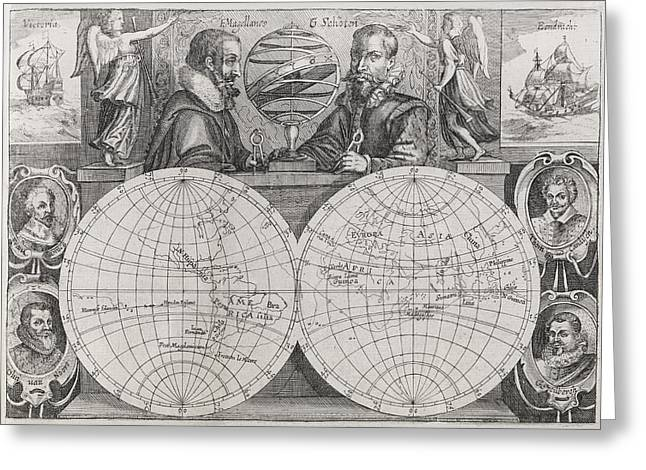 Circumnavigators, 16th To 17th Century Greeting Card