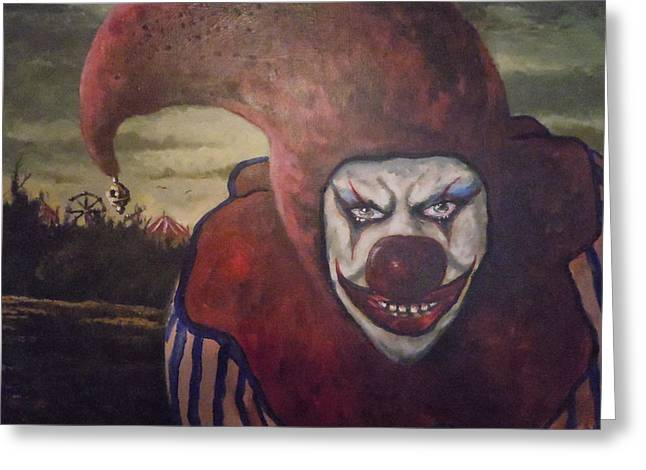 Greeting Card featuring the painting Circus Greeter by James Guentner