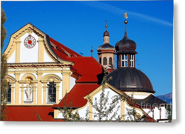 Cistercian's Basilica In Austrian Tyrol Greeting Card