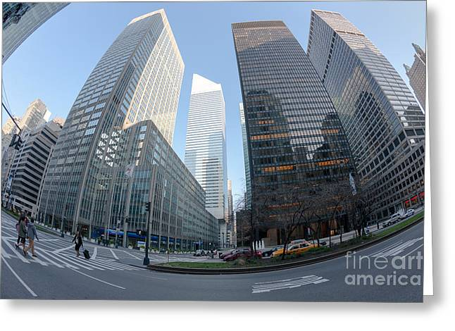 Citigroup Center From Park Avenue I Greeting Card by Clarence Holmes