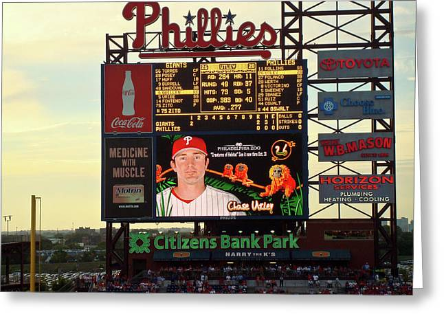 Citizens Bank Park 2 Greeting Card by See Me Beautiful Photography