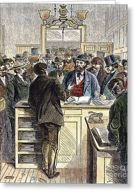 Citizenship, Nyc, 1868 Greeting Card by Granger