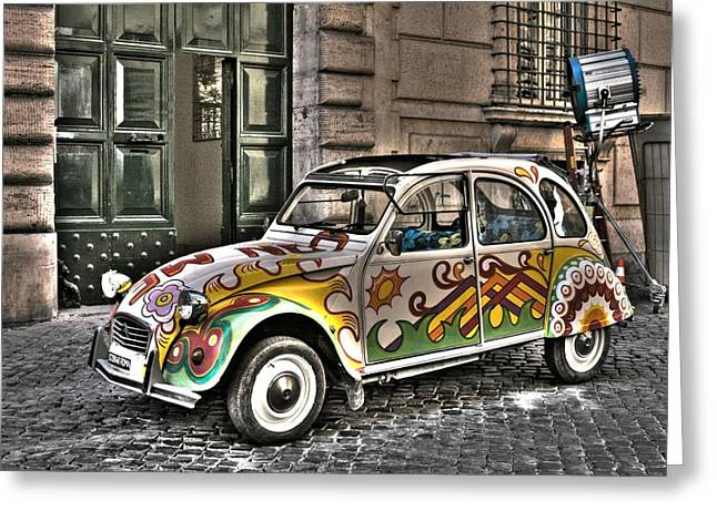 Citroen In Rome Greeting Card