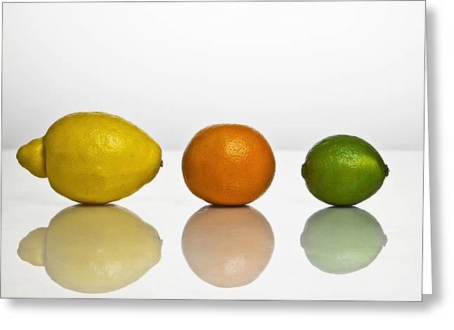 Citrus Fruits Greeting Card by Joana Kruse