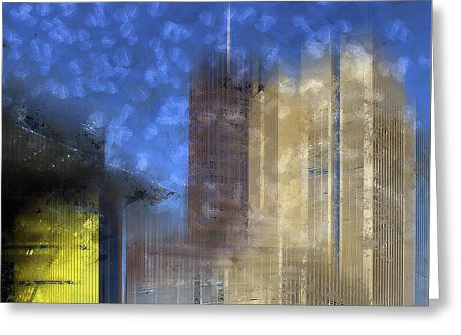 City-art Berlin Potsdamer Platz I Greeting Card