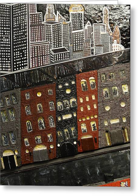 City Block After The Rain Greeting Card