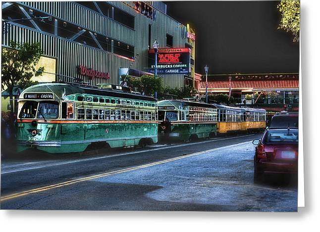 City Bus San Francisco Greeting Card by Michael Cleere