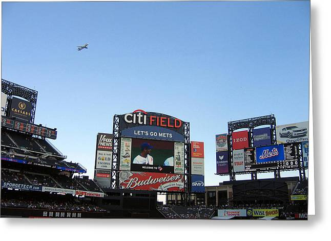 City Field At Queens Greeting Card by Suhas Tavkar