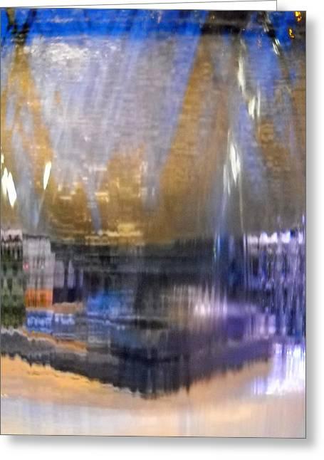 City Fountain  Greeting Card by Duwayne Washington