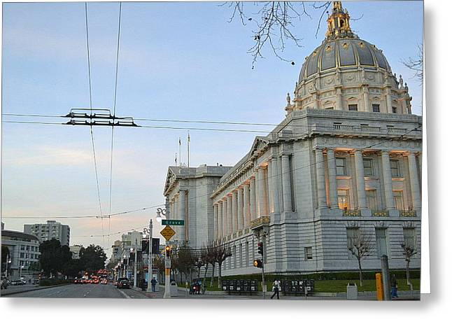 Greeting Card featuring the photograph City Hall San Francisco by Rima Biswas