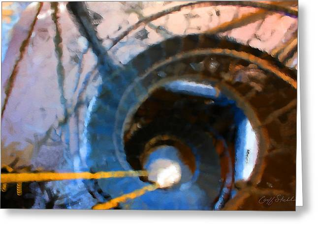 City Hall Spiral Abstract Greeting Card