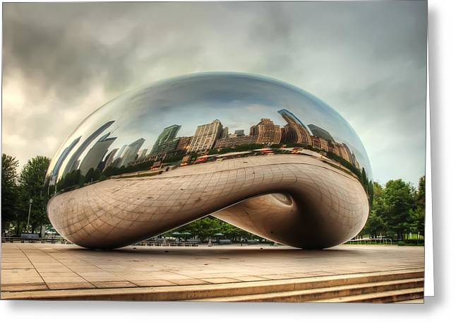 City In Reflection Greeting Card by Noah Katz