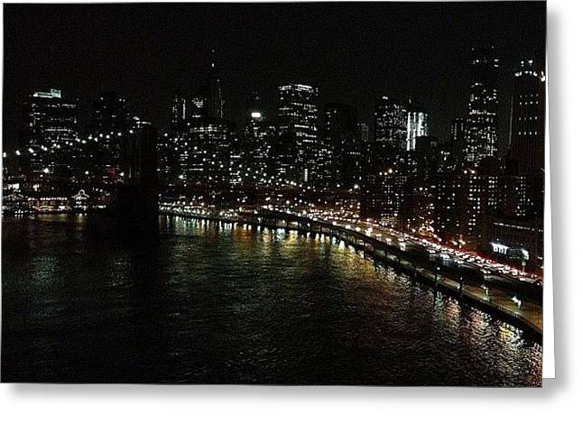 City Lights - New York Greeting Card
