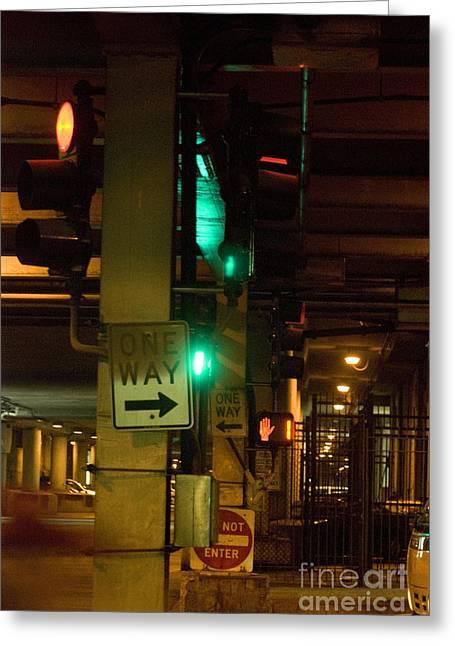 City Lights 5 Greeting Card