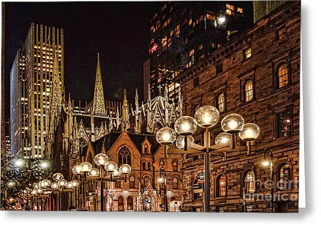 City Lights Greeting Card by Pat Carosone