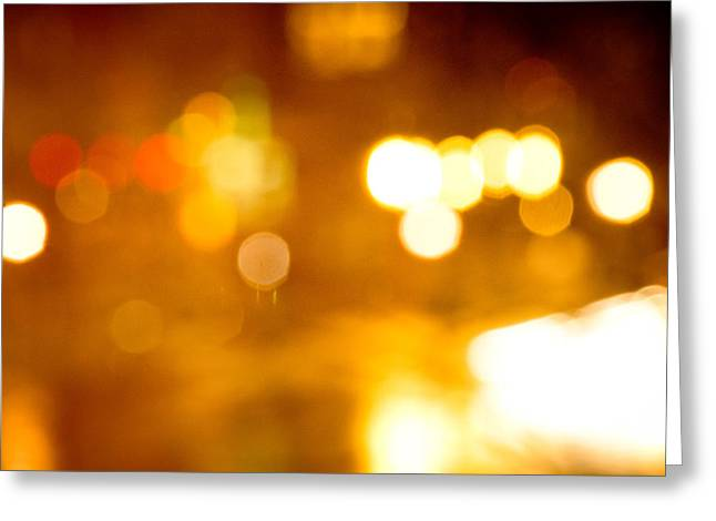 City Lights Greeting Card by Victoria Lawrence