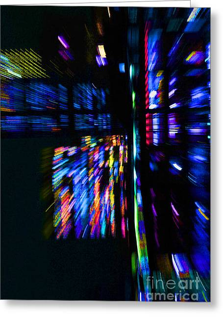 City Lights Greeting Card by Urban Shooters