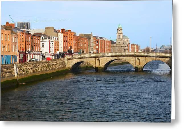 City Of Dublin Greeting Card by Artur Bogacki
