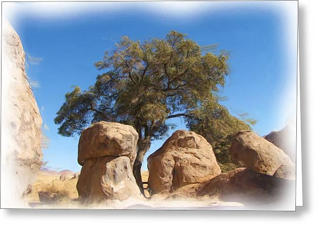 City Of Rocks State Park Greeting Card by FeVa  Fotos