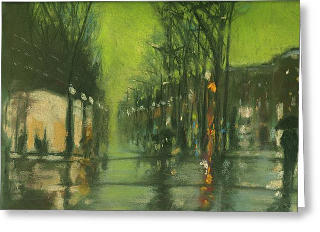 City Rain 6 Greeting Card by Paul Mitchell