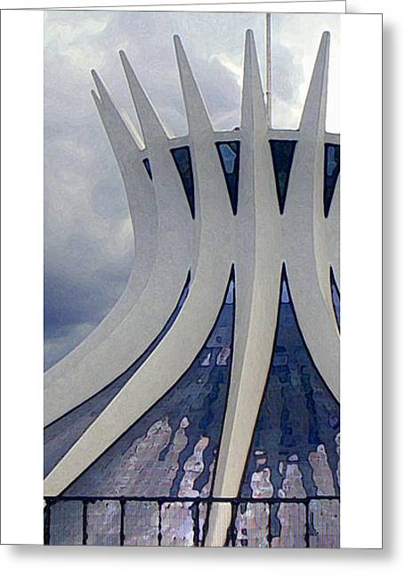 Citymarks Brasilia Greeting Card by Roberto Alamino